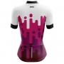 Camisa Ciclismo Brk Feminina Branca com Roxo com UV 50+