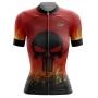 Camisa Ciclismo Brk Feminina Caveira Fire com UV 50+