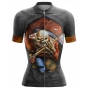 Camisa Ciclismo Brk Feminina Iron Maiden com UV 50+