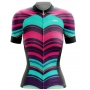 Camisa Ciclismo Brk Feminina Modern Waves com UV 50+