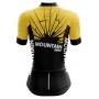 Camisa Ciclismo Brk Feminina Mountain Amarelo com Preto com UV 50+