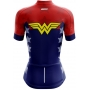 Camisa Ciclismo Brk Feminina Mulher Maravilha com UV 50+
