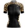 Camisa Ciclismo Brk Feminina Onça com Preto com UV 50+