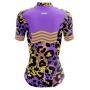 Camisa Ciclismo Brk Feminina Onça Roxa com UV 50+