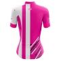 Camisa Ciclismo Brk Feminina Rosa e Branco com UV 50+