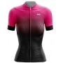 Camisa Ciclismo Brk Feminina Rosa e Preto com UV 50+