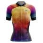 Camisa Ciclismo Brk Feminina Tie Dye Summer com UV 50+