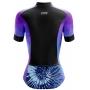 Camisa Ciclismo Brk Feminina Tie Dye Winter com UV 50+