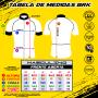 Camisa Ciclismo Brk Inglaterra Branca com UV 50+