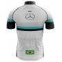 Camisa Ciclismo Brk Mercedes Branco com UV 50+