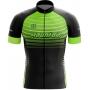 Camisa Ciclismo Brk Mountain Preto com Verde com UV 50+