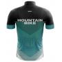Camisa Ciclismo Brk Moutain Bike Azul com Preto com UV 50+