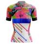 Camisa de Ciclismo Feminina Abstract Tropical Vibes Brk com UV50+
