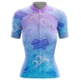 Camisa de Ciclismo Feminina Blue Oriental Brk com UV50+