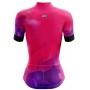 Camisa de Ciclismo Feminina Rosa e Roxo Brk com UV50+