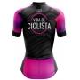 Camisa de Ciclismo Feminina Vida de Ciclista Pink Waves Brk com UV50+
