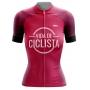 Camisa de Ciclismo Feminina Vida de Ciclista Rosa Brk com UV50+