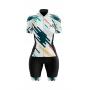 Macaquinho Ciclismo Feminino White Abstract Brk com UV50+