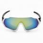 Óculos de Ciclismo Polarizado Brk Sportwave 02 Azul com Branco