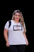 T-Shirt Chanel Três Chic Plus Size
