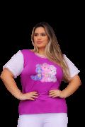 T-Shirt Ursinhos Carinhosos Plus Size
