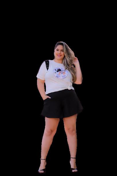 T-Shirt Botton Plus Size