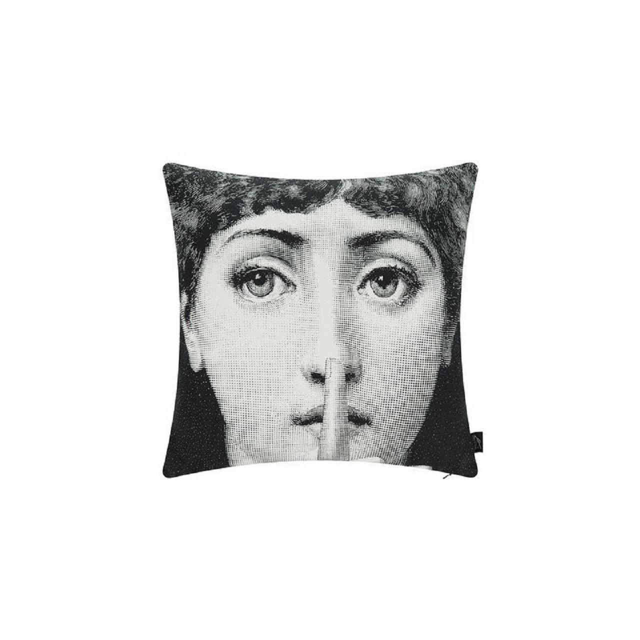Almofada Silenzio | preto e branco