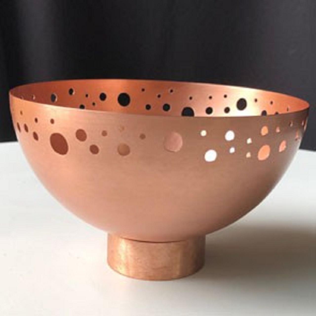 Bowl Pé Furado G | cobre