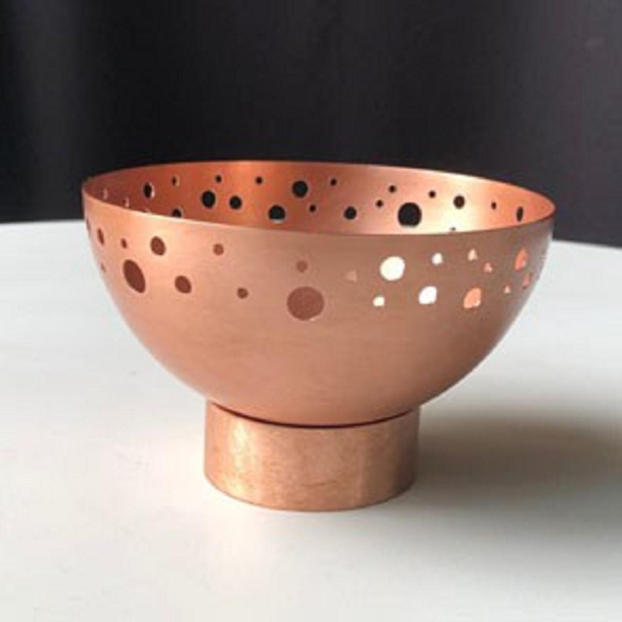 Bowl Pé Furado M | cobre