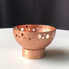 Bowl Pé Furado P | cobre