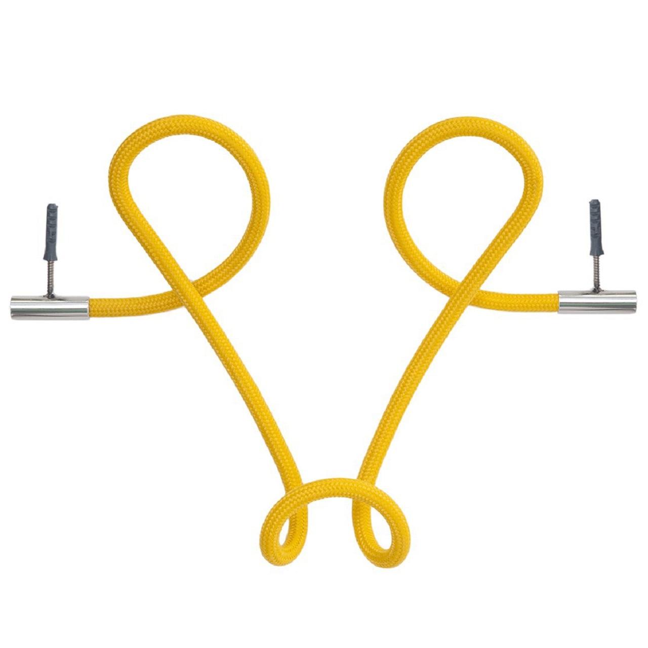 Cabideiro Laço Revestido Corda |  amarelo