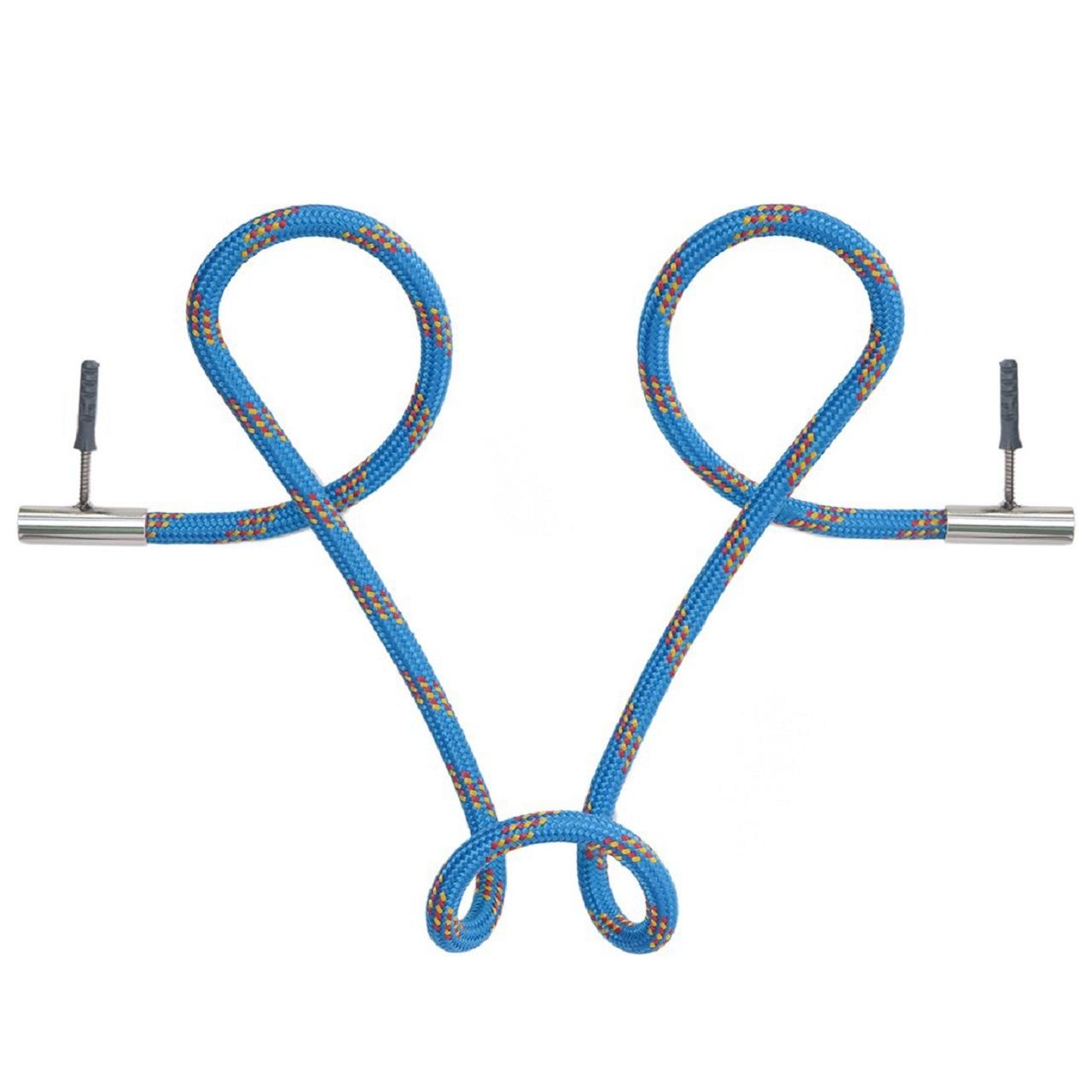 Cabideiro Laço Revestido em Corda    azul listra