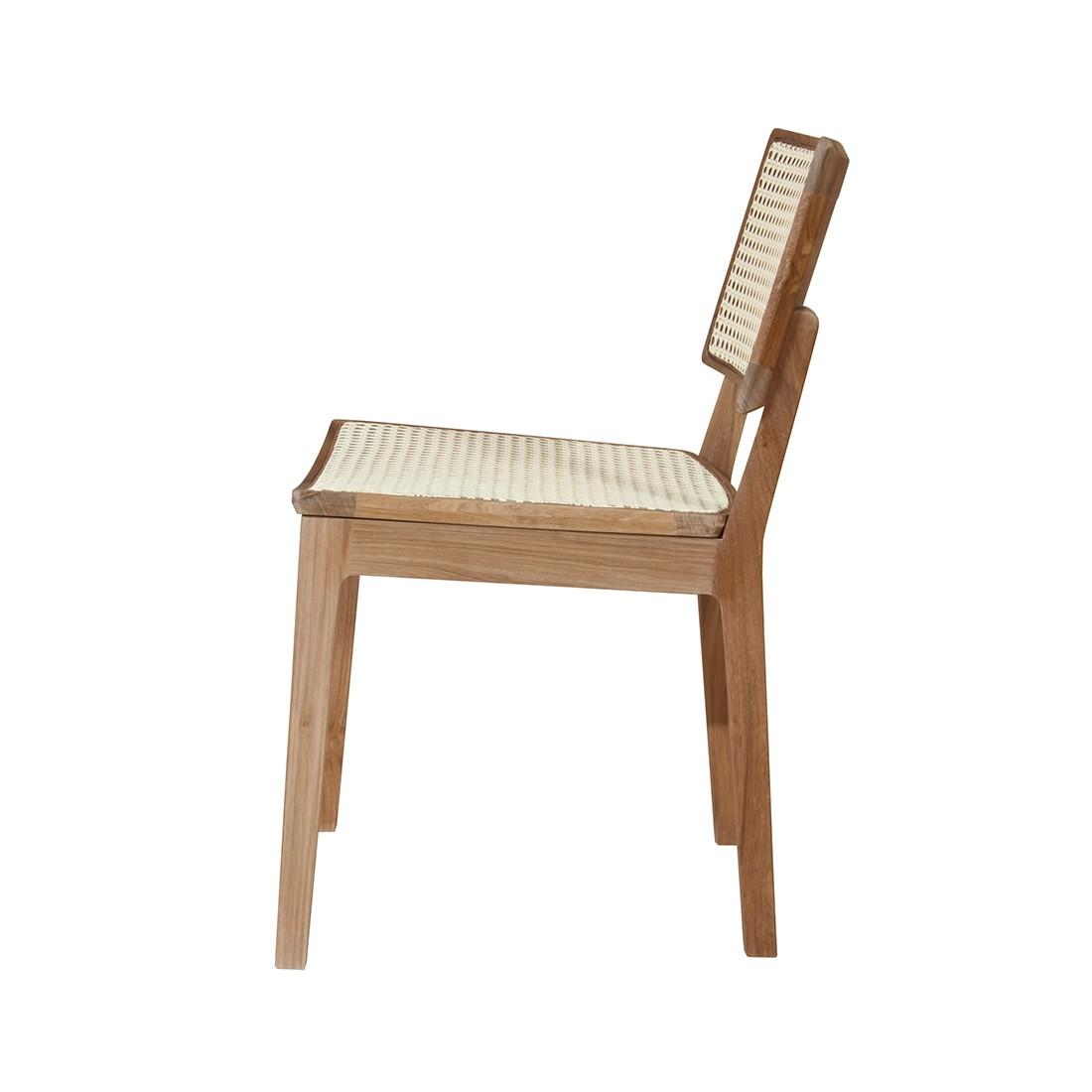 Cadeira Quadrada sem Braço | freijó natural