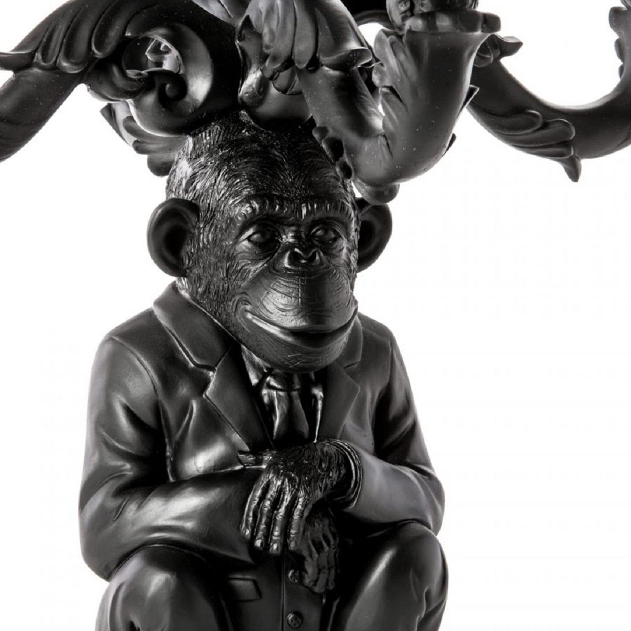 Castiçal Burlesque Chimpanzé | Preto
