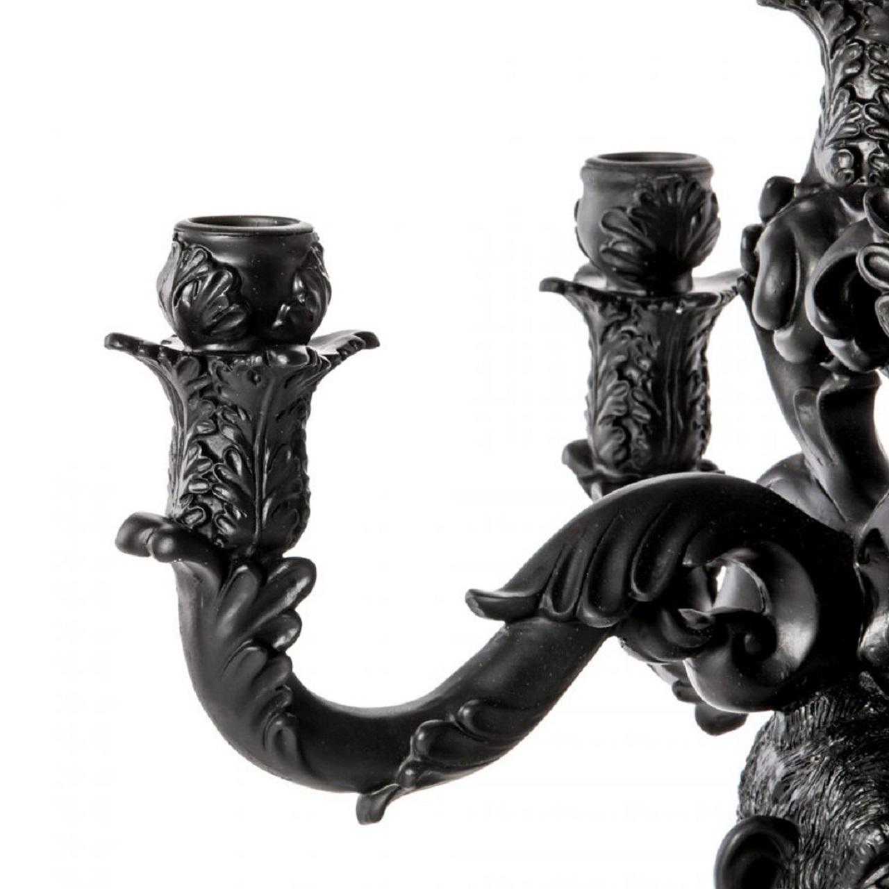 Castiçal Burlesque Chimpanzé   Preto