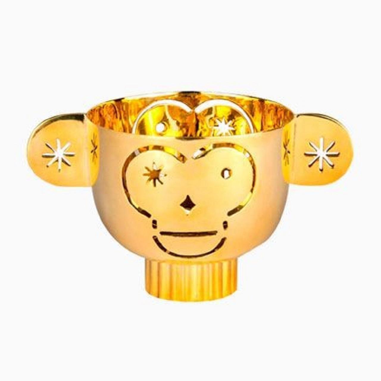 Castiçal Monkos | dourado