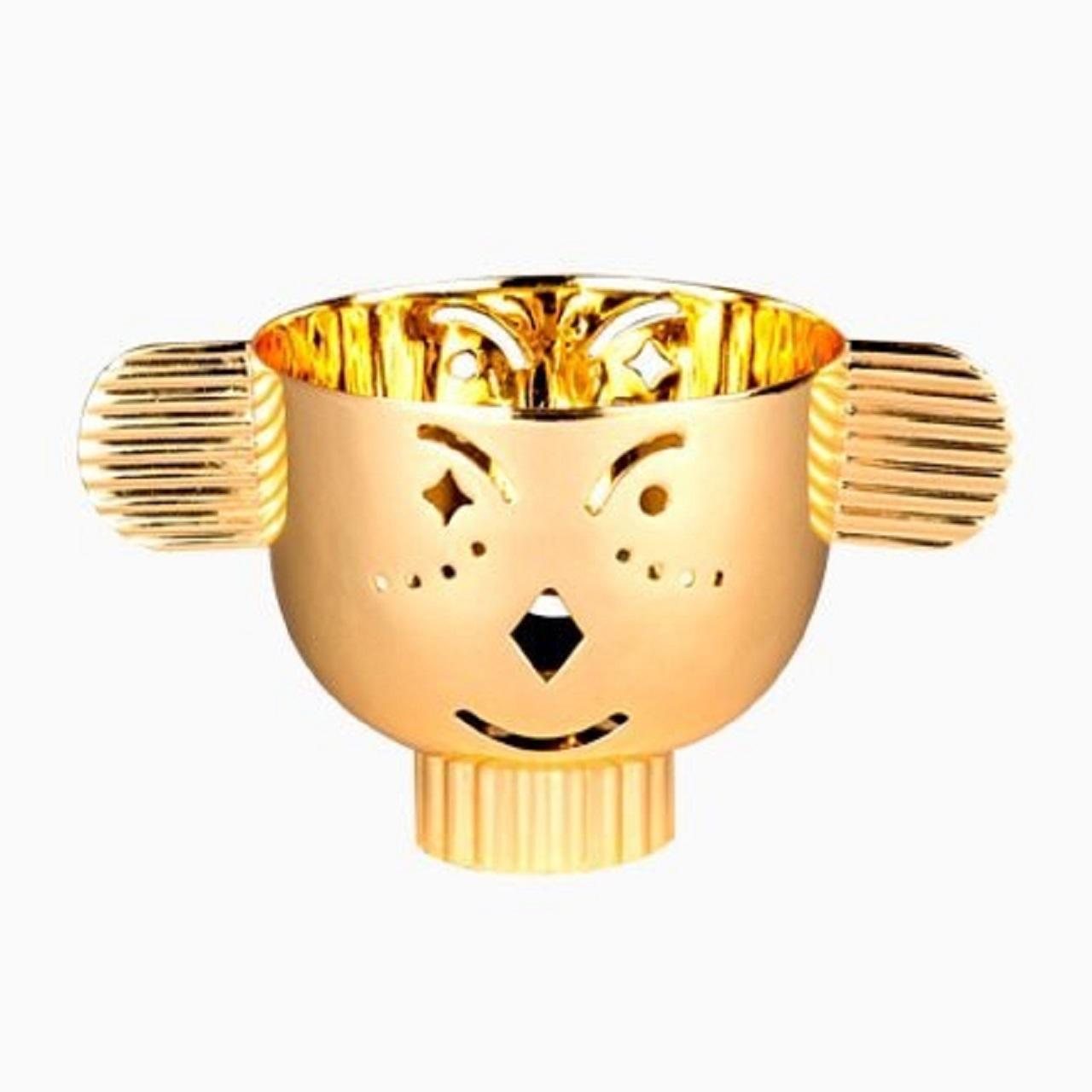Castiçal Pipoz | dourado