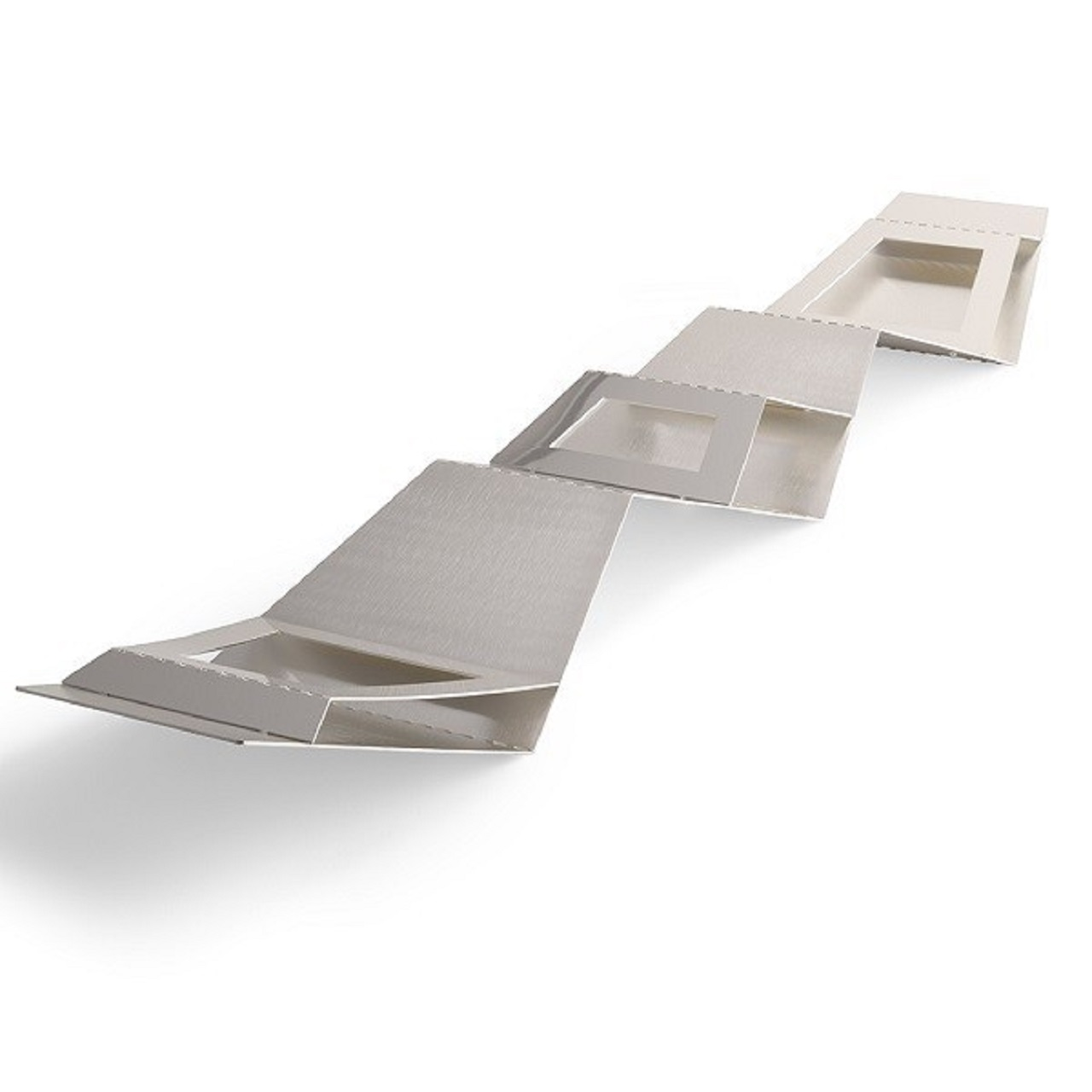Centro de Mesa Fruteira Step Silver