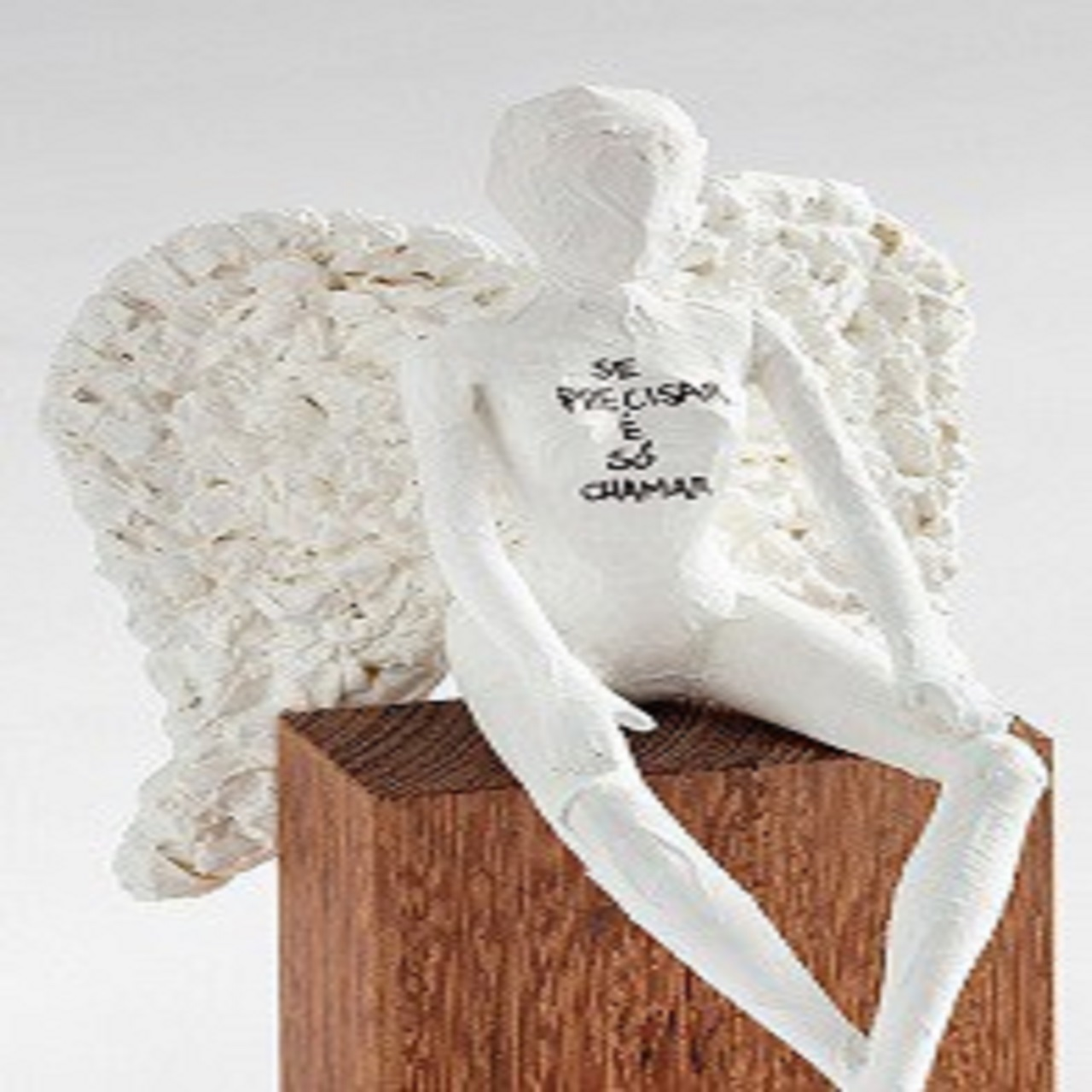 Escultura Anjo Sentado