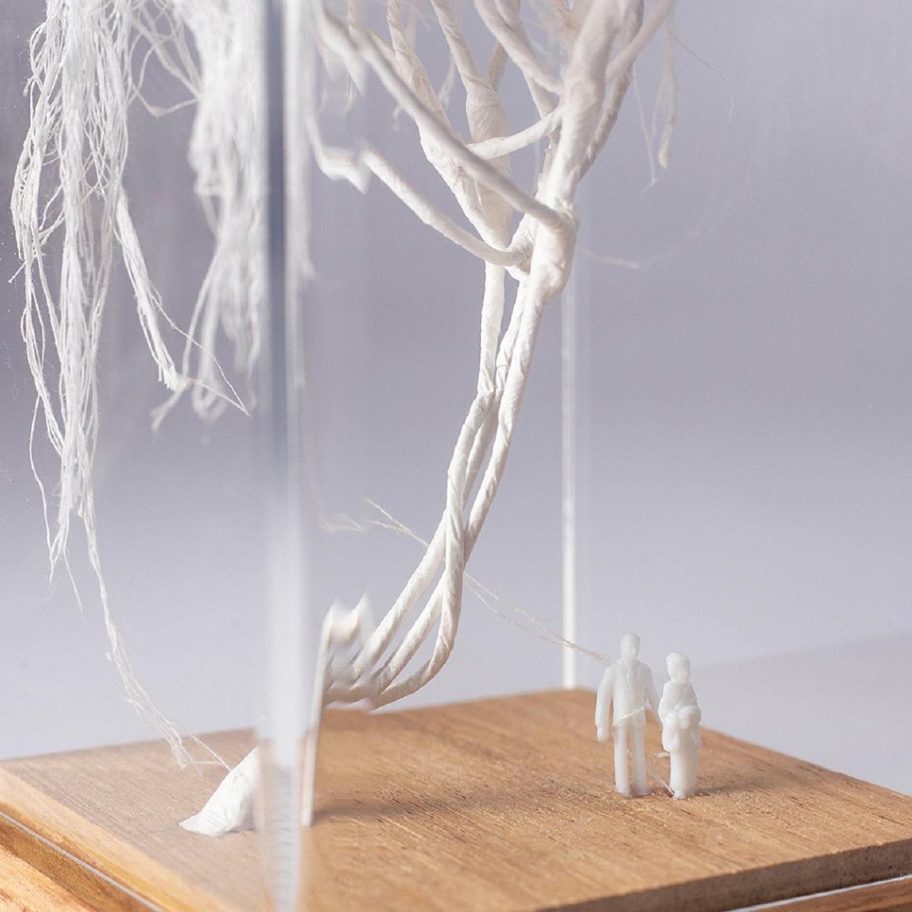 Escultura Árvore Casal Linha
