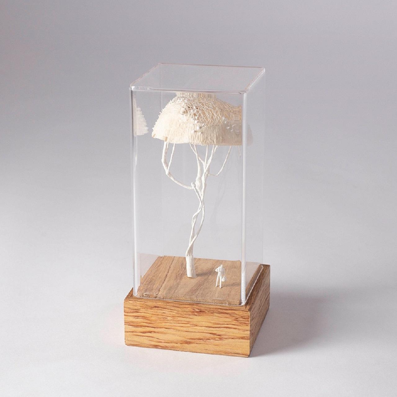 Escultura Árvore Renda Bege