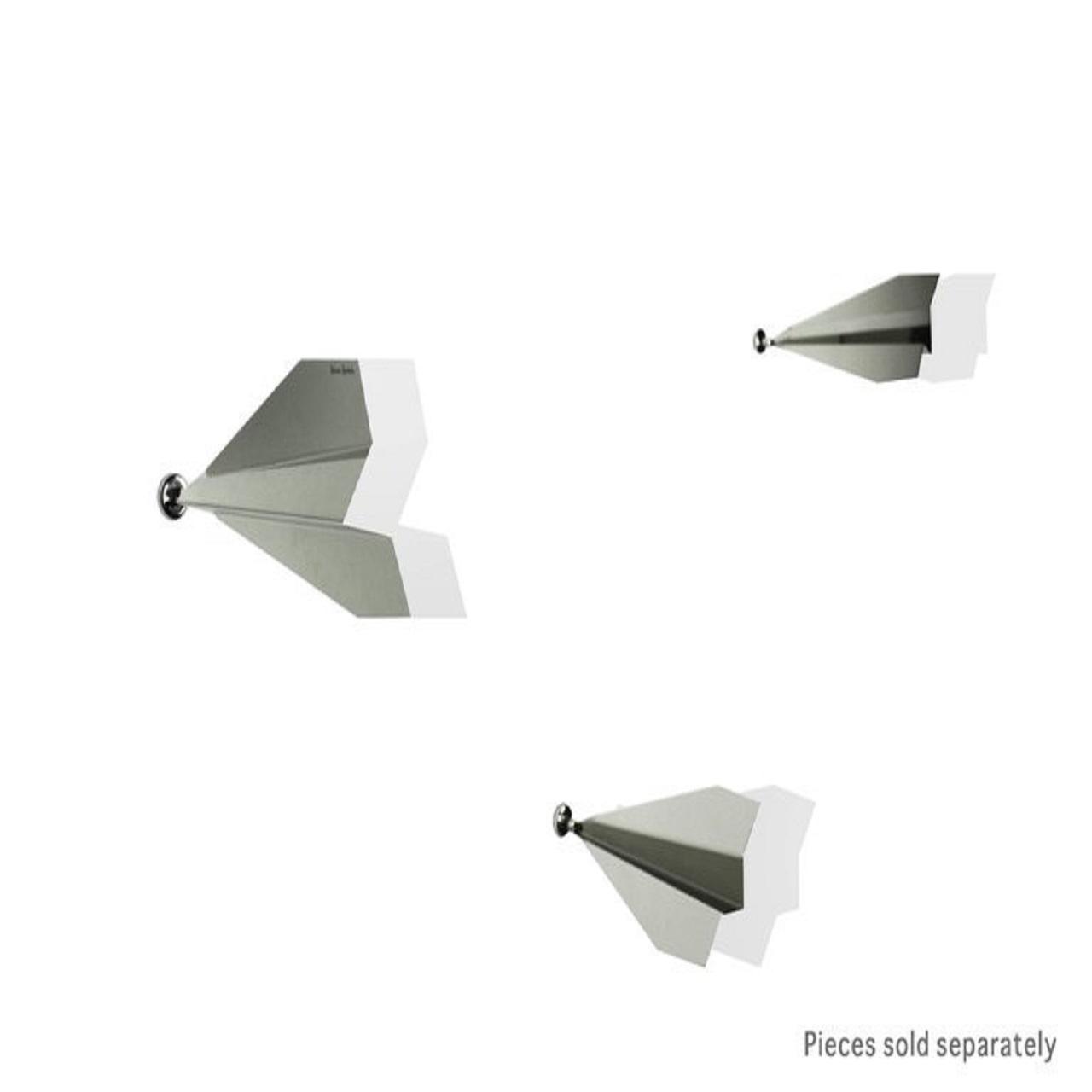 Escultura Avião De Parede | cinza