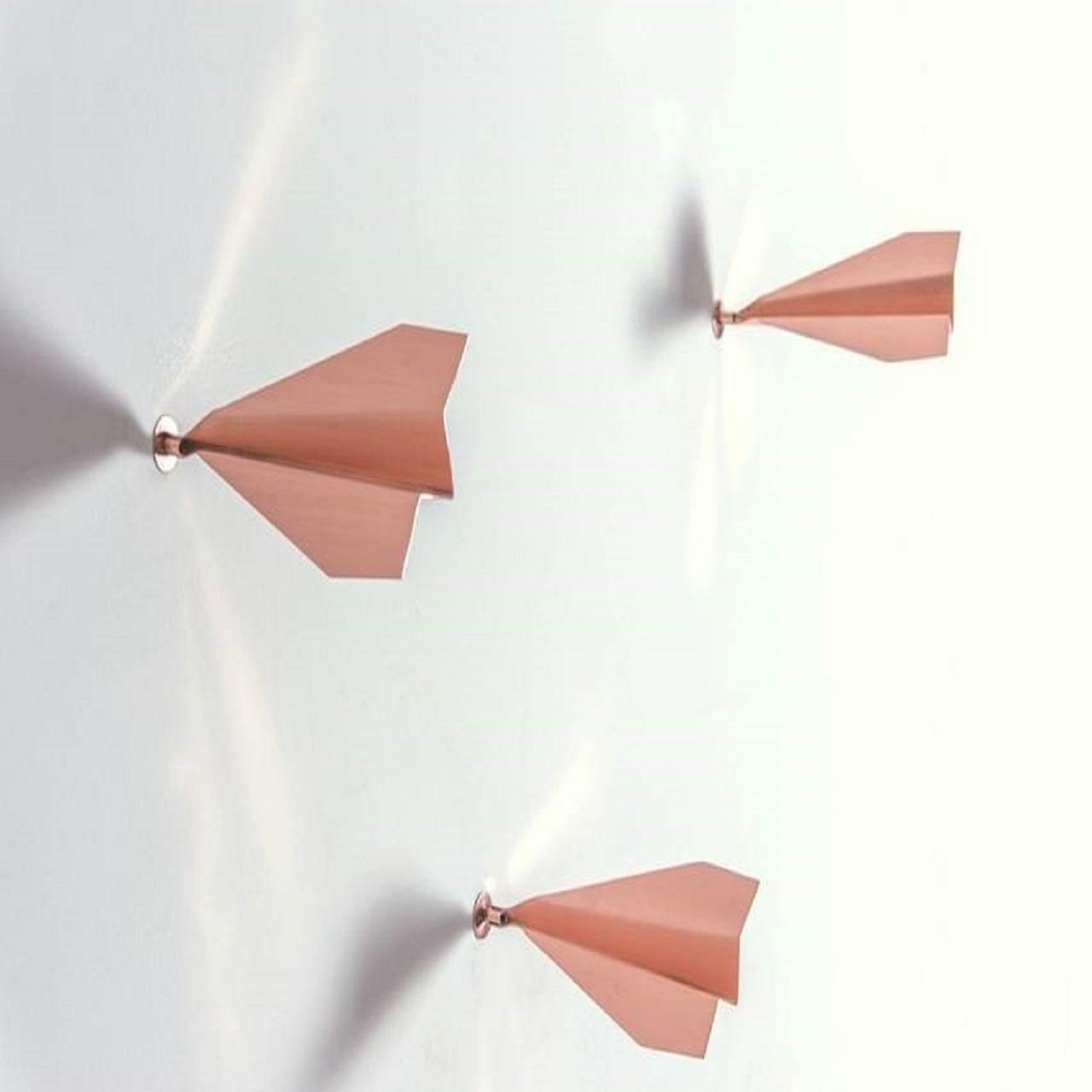 Escultura Avião de Parede P |  cobre
