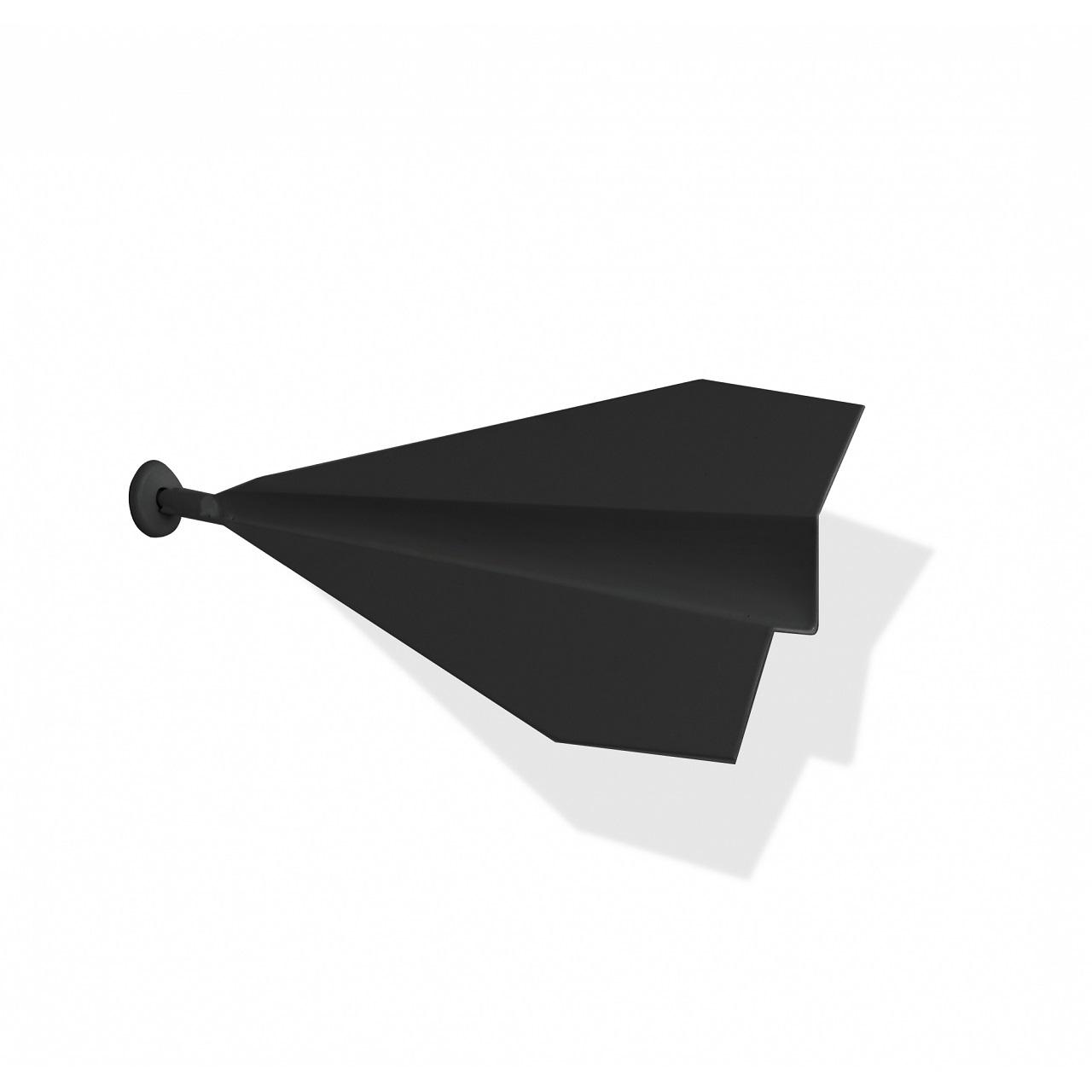 Escultura Avião De Parede | preto