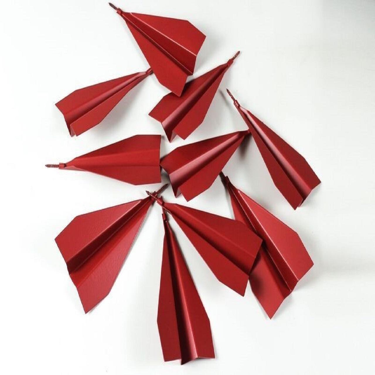 Escultura Avião de Parede | vermelho