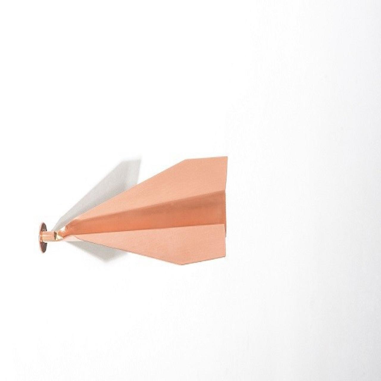 Escultura Aviãozinho de Parede P | cobre