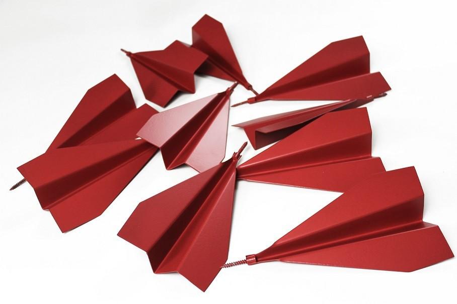 Escultura Aviãozinho de Parede P | vermelho