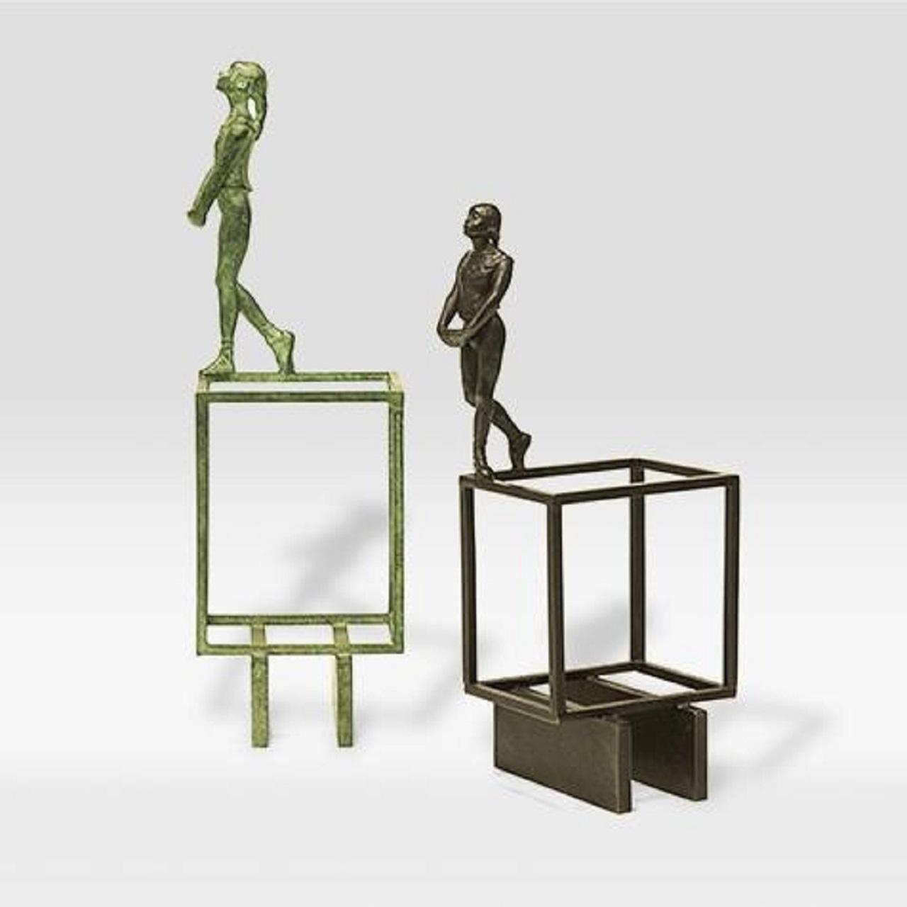 Escultura Bailarina Barras Patina P | preta