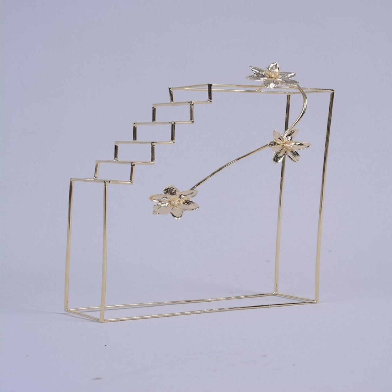Escultura Escada Bloco Flor 1