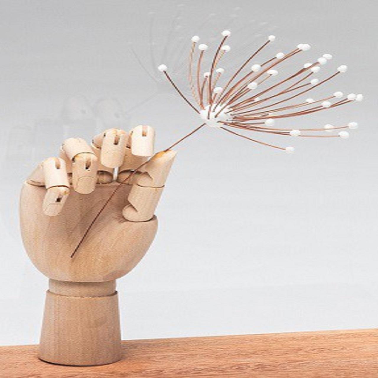 Escultura Mão Flor
